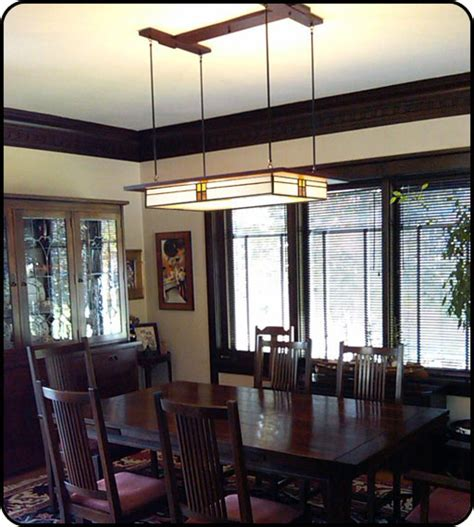 Craftsman Style Lighting Dining Room Prairie Style Light Fixture In Dining Room Mission Studio Lighting