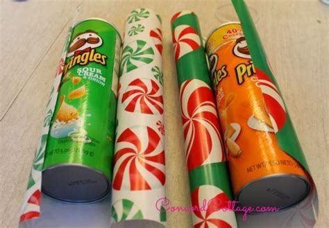 pringles can crafts for gift wrap containers from pringles cans hometalk