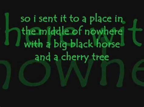 cherry tree karaoke big black and a cherry tree karaoke