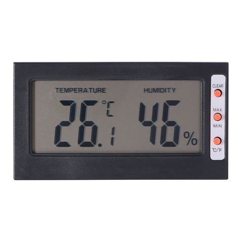 House Humidity Meter Digital Lcd Thermometer Hygrometer Temperature Humidity