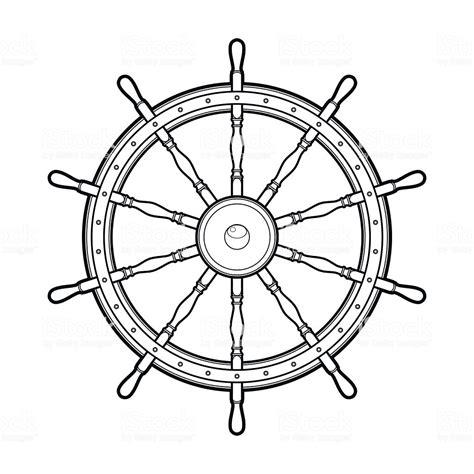boat steering wheel free vector graphic marine steering wheel stock vector art more