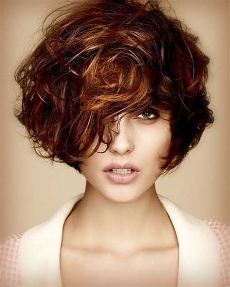 dark brown highlited bob sexy haircuts short curly dark brown hairstyle with auburn highlights