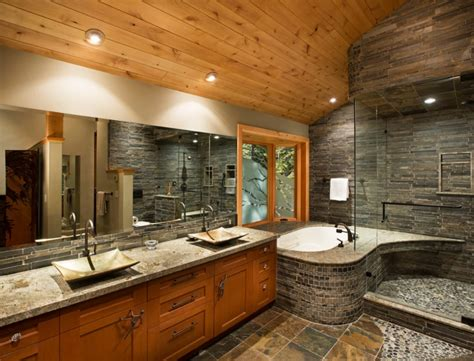 lavish bathroom designs 21 river rock bathroom designs decorating ideas design