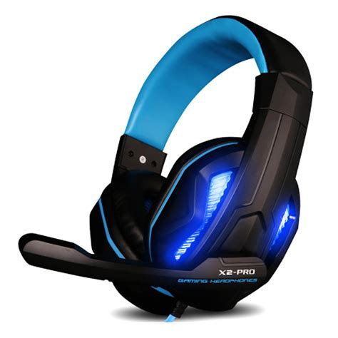 Led Light Gaming Headphones With Mic Stereo Earphone Over