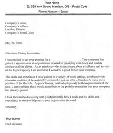 Cover Letter Format Canada by Search In Usa And Canada