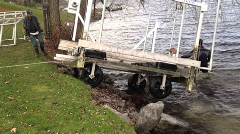 boat covers attached to dock aluminum boat lift removal youtube
