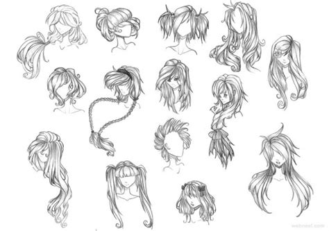 anime hairstyles for beginners anime hair drawing tutorial images