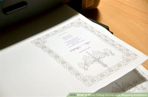 3 ways to make cheap wedding invitations wikihow