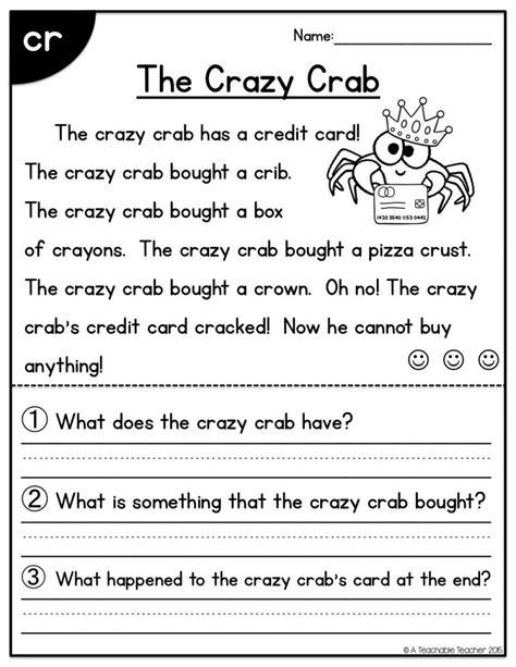 printable reading comprehension worksheets for 1st grade