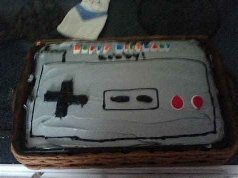 nintendo cake  computer game cake decorating  cut