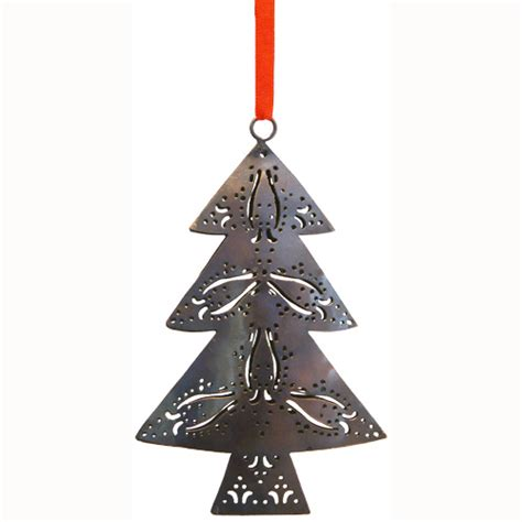 recycled metal christmas trees from india fair trade