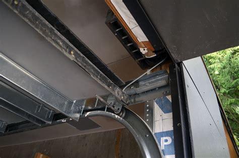 garage door track on garage door replacement