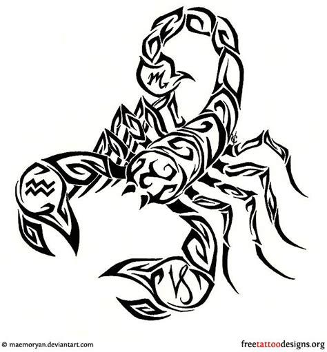 tribal tattoos quotes scorpio designs pin scorpion design tribal