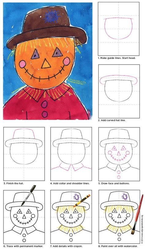 How To Draw Plane scarecrow face art projects for kids