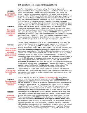 Fillable Online B2b.statefarm.com supplement request forms ... W 9 Form 2016 Fillable Pdf