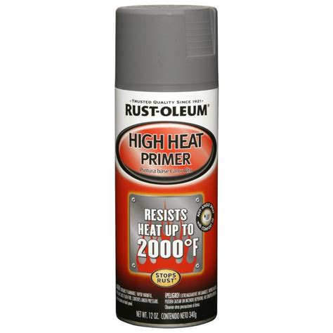 shop rust oleum 12 oz gray flat spray paint at lowes