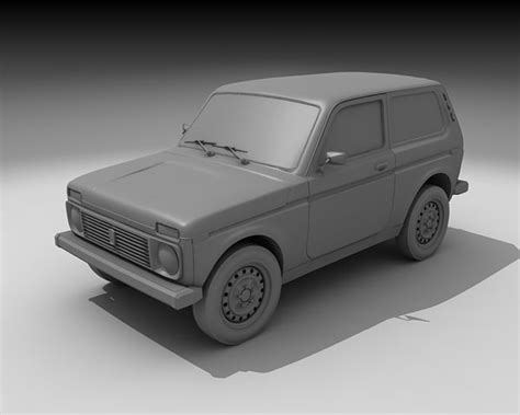 lada da studio lada niva 3d model