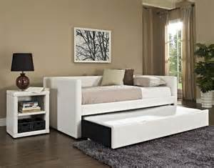 Daybed Nightstand White Wooden Daybed Mixed Pink Wall Color