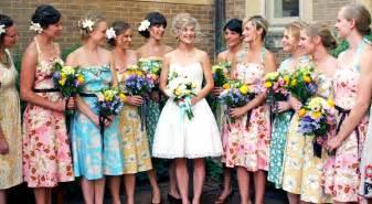 vintage wedding bridesmaids dresses vintage bridesmaid dresses with floral accentcherry