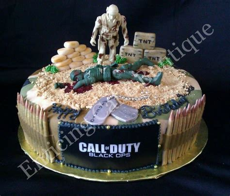 Diy Birthday Cake Trolley call of duty fondant camoflauge cake with sugar handmade bullets and tags this is great for