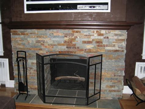 stone around fireplace fireplace redo ideas on pinterest mosaic fireplace tile