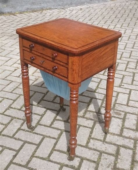 Sewing Tables For Sale by Regency Work Box Or Sewing Table Made Of Oak And