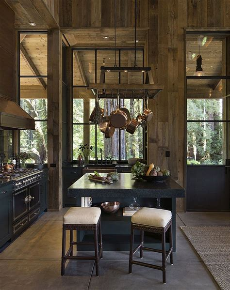 napa cabin farmhouse style cabin  wade design architects