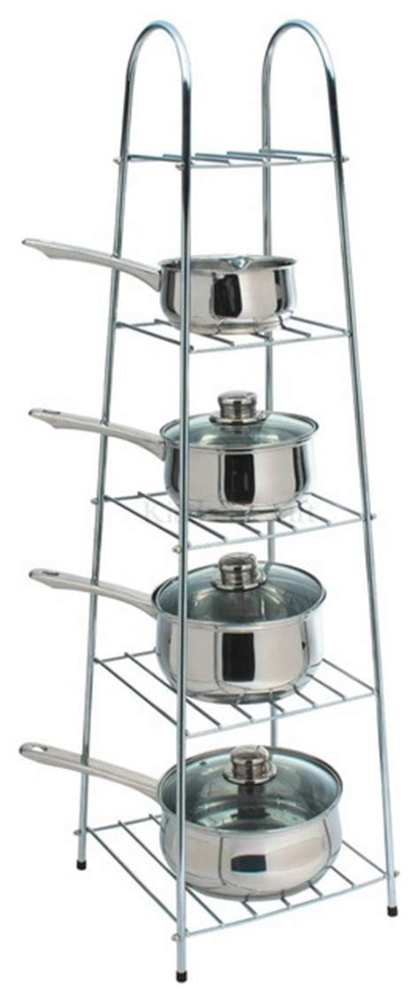 Saucepan Stand Kitchen Kitchen Craft Deluxe Heavy Duty Chrome Saucepan Stand