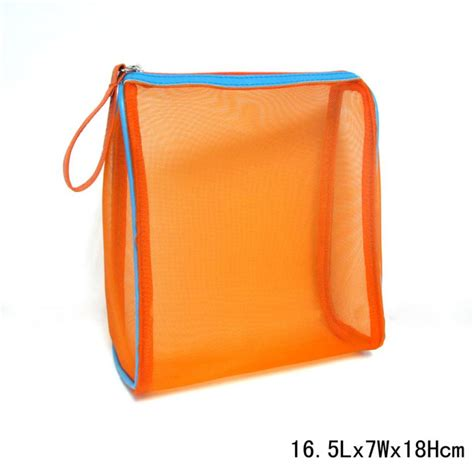 Bag Giveaway - nylon mesh cosmetic bag giveaway promotional item