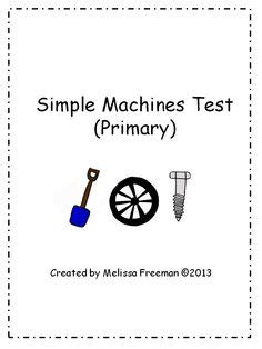 Section 3 Simple Machines Answers by Forces Causing Motion Science Test For Grade 3 Grade 3