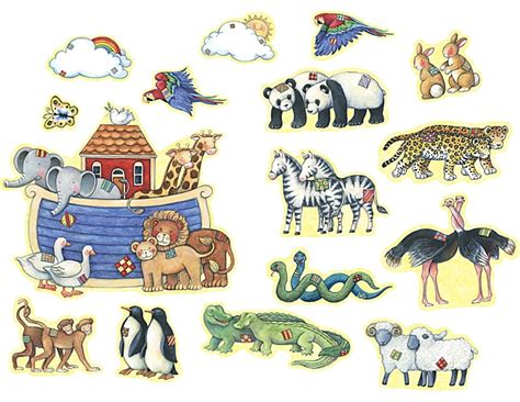 Noah S Ark Bulletin Board From Susan Winget Tcr4451 Noah S Ark While Animals Are Going To The Ark Drawing With Color