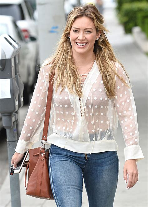 Other Designers Hilary Duff With Designer Travel Bags by Givenchy Is Clearly The Brand Of Choice In Today S