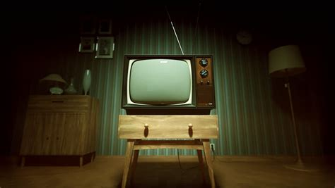 old school tv stands hd 1080p wallpaper background vintage old television on the floor with static screen