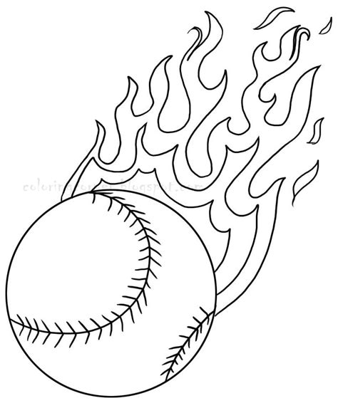 Printable Coloring Pages Baseball | baseball coloring pages