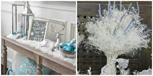 Winter Wonderland Decorating Ideas For Christmas - winter home decor inspiration anne marie mitchell