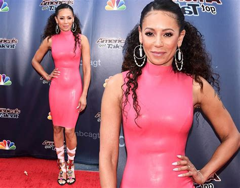 Mel Dres Pink mel b america s got talent judge shows figure in pink