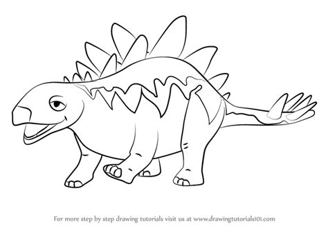 doodle dinosaur draw ruptor learn how to draw morris stegosaurus from dinosaur