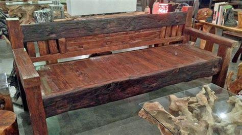 railroad tie bench rustic teak railroad tie bench largeimpact imports