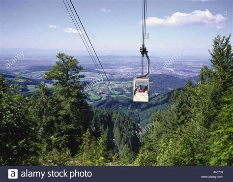 Baden Auto Freiburg by Germany Baden Wurttemberg Schauinsland Cable Car View
