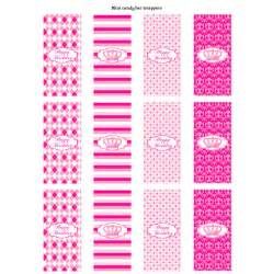 preppy couture printable mini candy bar wrappers