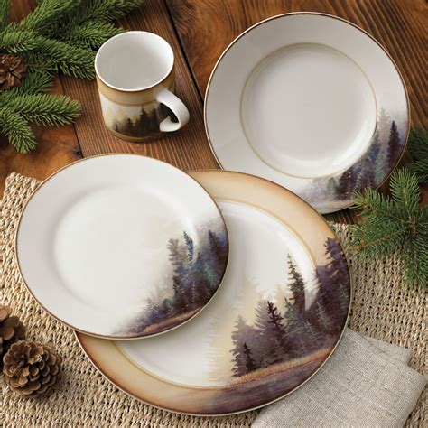 Cabin Dinnerware Sets by Forest Dinnerware Set 16 Pcs