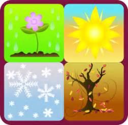 Four seasons clipart image symbols of the four seasons winter