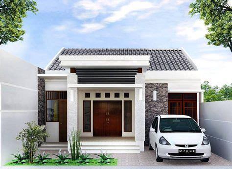 desain rumah minimalis type   model teras batu alam contoh rumah pinterest batu