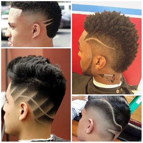 hair cut patterns at the back and side black mohawk fade haircut hairs picture gallery