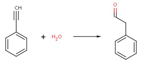 hydration synthesis synthesis of 2 phenylacetaldehyde via alkyne hydration via