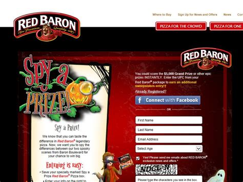 Red Baron Sweepstakes - red baron spy a prize sweepstakes