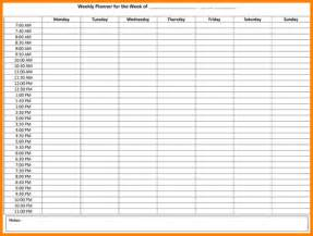 Hourly Planner Template by 6 Weekly Hourly Planner Weekly Agenda Planner