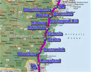 us map of interstate 95 i 95 driving distance