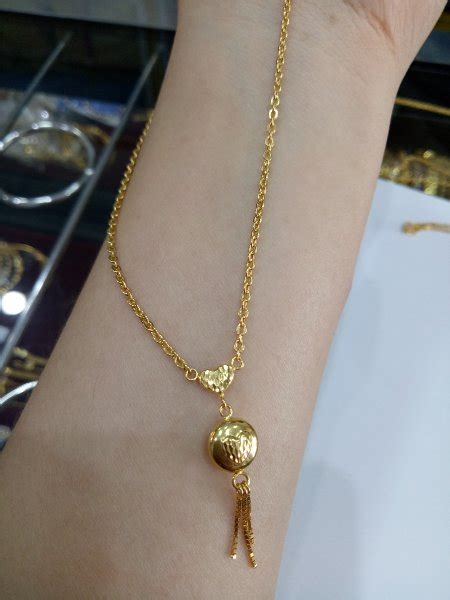 Kalung Fashion Kadar 232 jual beli kalung emas asli kadar 875 model fancy bulat