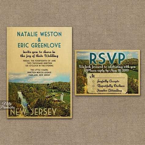 Wedding Invitations New Jersey by New Jersey Wedding Invitations Vtw Nifty Printables